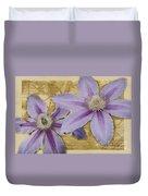 Purple Clematis Duvet Cover
