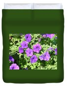 Petunias Purple Club Duvet Cover