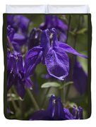 Purple Columbine 3 Duvet Cover