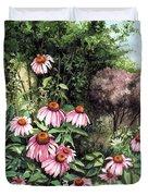 Purple Coneflowers Duvet Cover