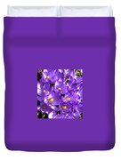Purple Crocus Spring Welcome Duvet Cover