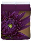 Purple Dahlia Duvet Cover