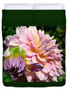 Purple Dahlia With Bud Duvet Cover