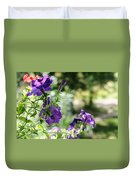 Purple Delight. Petunia Bloom Duvet Cover
