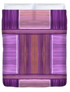 Purple Dreams Squares Duvet Cover