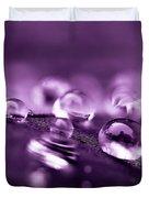 Purple Droplets Duvet Cover