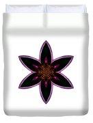 Purple Echinacea I Flower Mandala White Duvet Cover