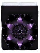 Purple Fantasy Flower Duvet Cover