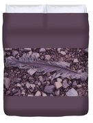 Purple Feather Duvet Cover