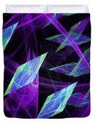 Purple Floating Diamonds Duvet Cover