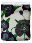 Purple Floral Burst Duvet Cover