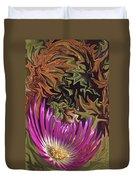 Purple Flower Abstract Duvet Cover