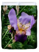 Purple Flower After Rainfall Duvet Cover by Doc Braham