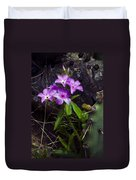Purple Flower At Enchanted Rock Duvet Cover