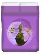 Purple Flower Orb Duvet Cover