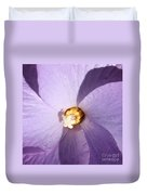 Purple Flower Square Duvet Cover