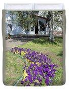 Purple Flowerbed Duvet Cover
