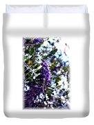 Purple Flowering Tree Duvet Cover