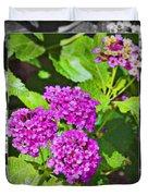 Purple Flowers A Duvet Cover