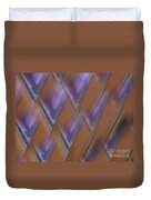 Purple Geometry - Abstract Duvet Cover