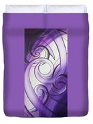 Purple Glass Koru Duvet Cover