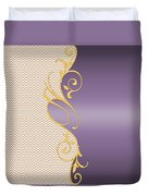 Purple Gold Chevron Duvet Cover