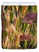 Purple Grasses Duvet Cover