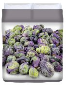 Purple Green Brussels Sprouts Duvet Cover