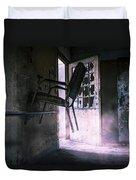 Purple Haze - Strange Scene In An Abandoned Psychiatric Facility Duvet Cover