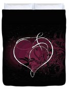 Purple Heart Of Passion Duvet Cover