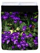 Purple Hearts Duvet Cover