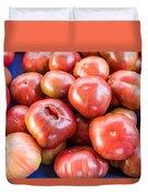 Purple Heirloom Tomatoes  Duvet Cover