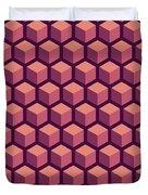 Purple Hexagonal Pattern Duvet Cover