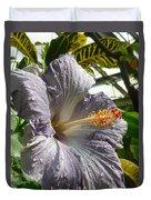 Purple Hibiscus Duvet Cover