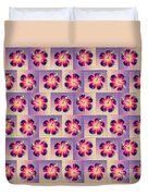 Purple Hibiscus Pattern Duvet Cover