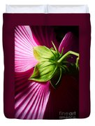 Purple Hibiscus Shot From Behind. Duvet Cover