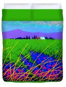 Purple Hills Duvet Cover by John  Nolan