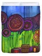 Purple Hills Duvet Cover