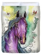 Purple Horse Duvet Cover