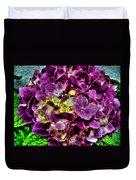 Purple Hortensia After Summer Rain Duvet Cover