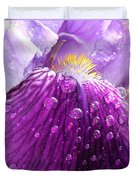 Purple Iris - 2 Duvet Cover