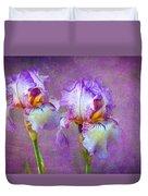 Purple Iris Duvet Cover by Lena Auxier