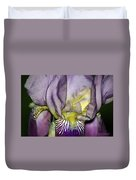 Purple Iris - Macro Duvet Cover
