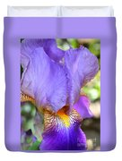 Purple Iris Macro Duvet Cover