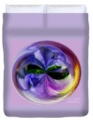Purple Iris Orb Duvet Cover
