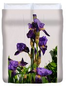 Purple Iris Stalk Duvet Cover