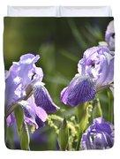 Purple Irises Duvet Cover