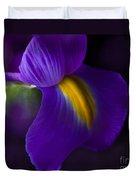 Purple Light Iris Macro Duvet Cover