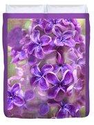 Purple Lilacs Duvet Cover