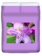 Purple Long Pistil Flower Duvet Cover